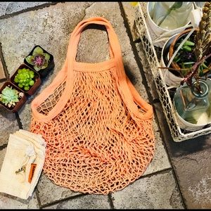 Handbags - 🆕🆕♻️FRENCH MARKET COTTON NET-SHORT HANDLE BAG♻️